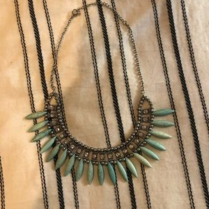 H&M turquoise statement necklace